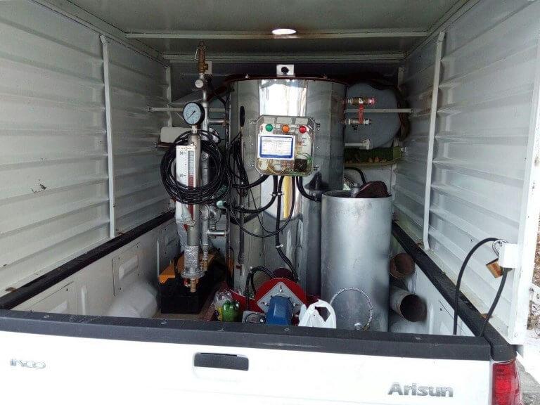 کارواش بخار صنعتی سیار راه اندازی کارواش بخار سیار