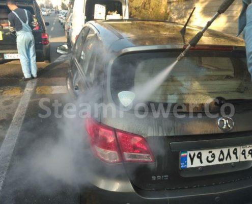 کارواش بخار و بخارشوی سیار توربو 8 اسب بخار استیم پاور دستگاه بخارشوی ماشین و اتومبیل 1
