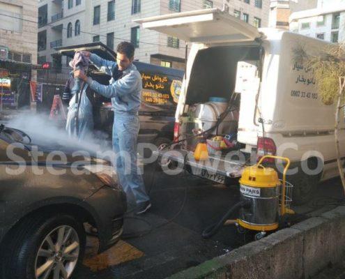 کارواش بخار و بخارشوی سیار توربو 8 اسب بخار استیم پاور دستگاه بخارشوی ماشین و اتومبیل 2