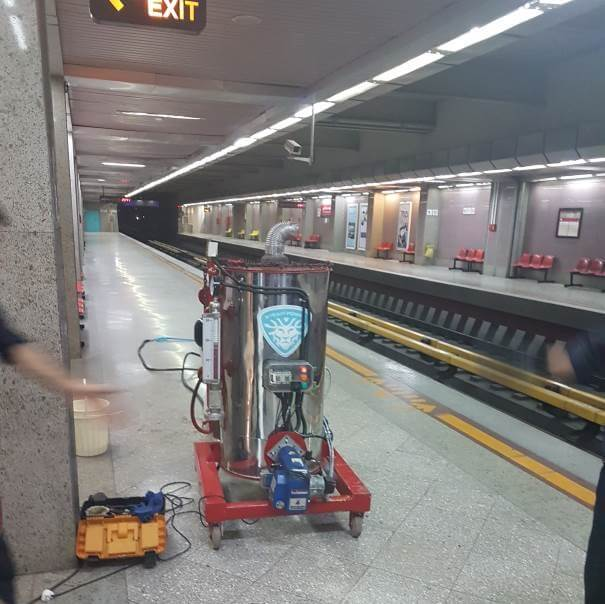 2مترو تهران کارواش بخار نانو سیار بخارشوی صنعتی