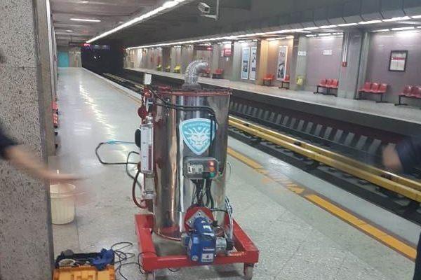 شستشوی مترو واگن و خطوط ریلی و جاده ای با کارواش بخار
