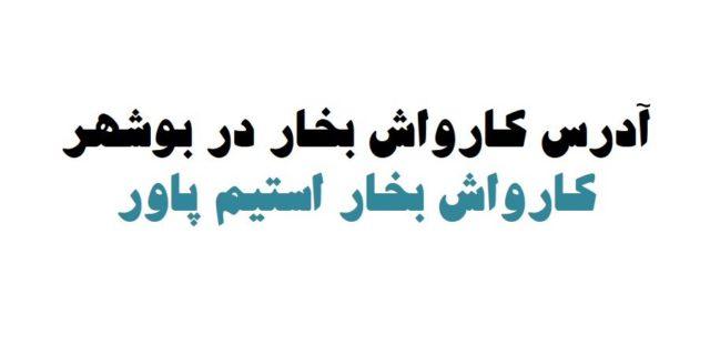 کارواش بخار در بوشهر آدرس کارواش بخار در بوشهر