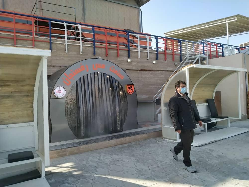 تونل ضدعفونی استیم پاور در باشگاه مس رفسنجان